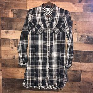 MERONA | Black/White Flannel Dress